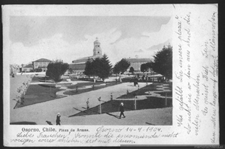Plaza de Armas de Osorno,1904
