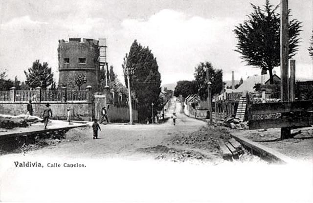 Calle Canelos en Valdivia - 1902