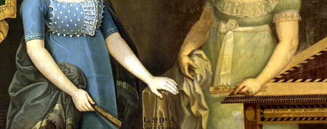 Damas - Detalles de óleos del pintor José Gil de Castro