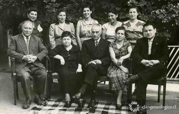 Familia Canobra Vásquez 1953 en Santiago
