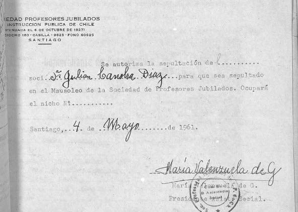 Sepultación Julián Canobra Díaz
