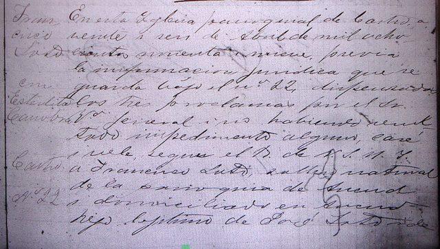 Matrimonio de Estelita Canobra con Francisco Soto