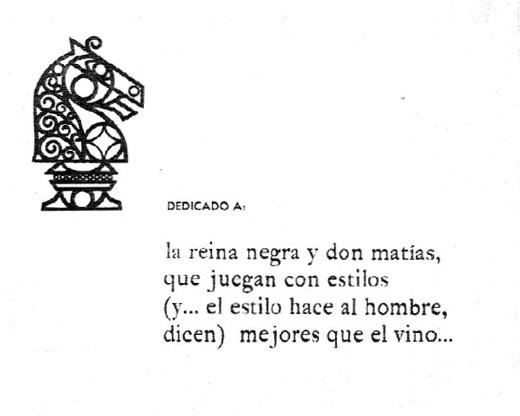 Dedicatoria del Manual de Ajedrez - Tomo I, Juvenal Canobra